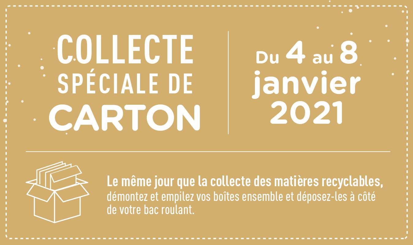 Collecte spéciale de carton du 4 au 8 janvier