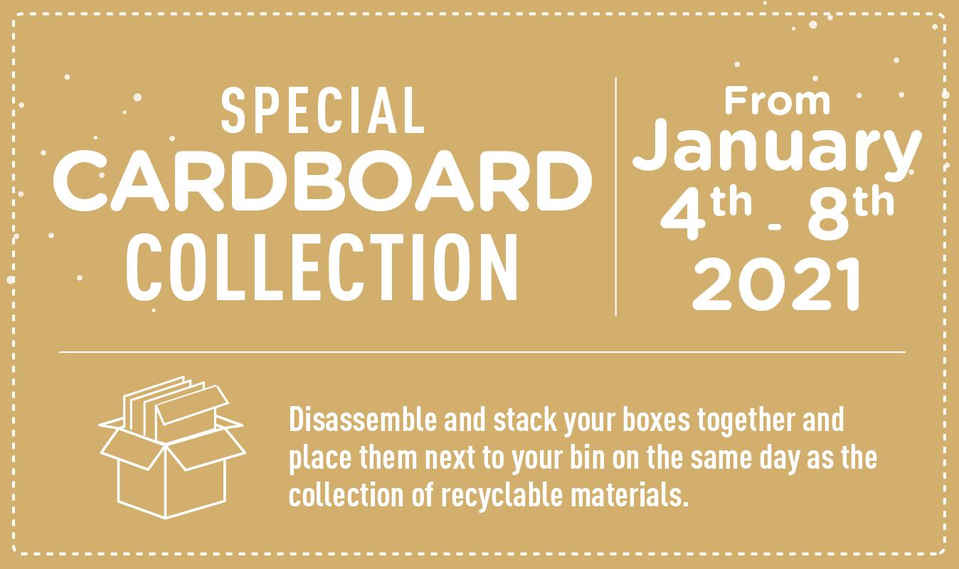 (Français) Collecte spéciale de carton du 4 au 8 janvier