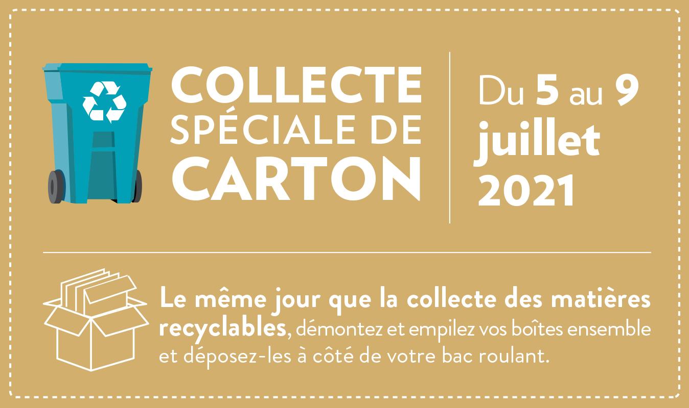 Collecte spéciale de carton du 5 au 9 juillet